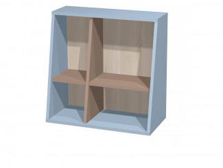 Полка книжная, квадратная, с перегородками - СФ-266302