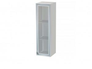 Вертикальная книжная полка со стеклянной дверкой - СФ-266326-SR - ПРАВАЯ