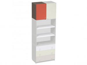 Шкаф верхний ЛЕВЫЙ, с дверкой и полкой внутри - СФ-266301L