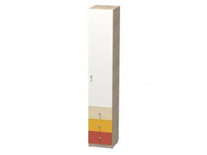 1-дверный шкаф ПРАВЫЙ, гл. - 450 мм., с 3-мя ящиками и полками - СФ-264102R