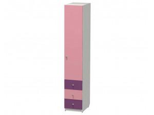 1-дверный шкаф ПРАВЫЙ, гл. - 600 мм., с 3-мя ящиками и штангой - СФ-264105R