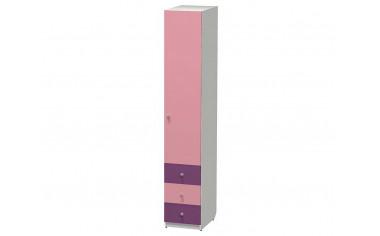 1-дверный шкаф со штангой и с 3-мя ящиками - СФ-264105R