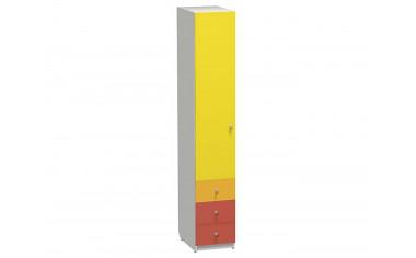 1-дверный шкаф со штангой и с 3-мя ящиками - СФ-264105L