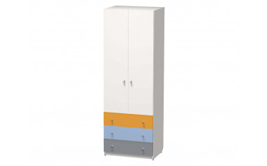 Двух-дверный шкаф со штангой и с 3-я ящиками - СФ-264107