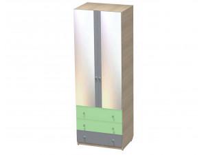 Двух-дверный шкаф с 3-я ящиками и штангой - СФ-264107