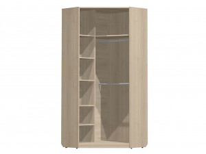 Угловой двух-дверный шкаф с полками СЛЕВА и со штангами - СФ-264109
