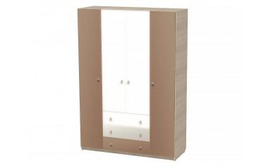 Четырех-дверный шкаф с полками со штангой и с 3-я ящиками - СФ-264113