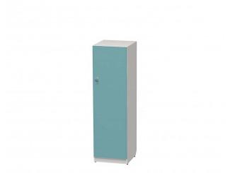1-дверный шкаф низкий 1401 мм, ПРАВЫЙ, с полками - СФ-264144R