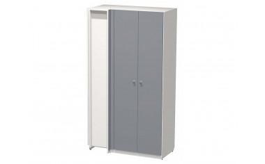 Угловой двух-дверный шкаф с полками и штангами - СФ-264511
