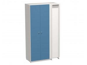 Угловой двух-дверный шкаф с полками СЛЕВА и со штангами - СФ-264512