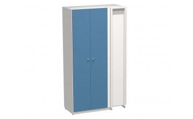 Угловой двух-дверный шкаф с полками и штангами - СФ-264512