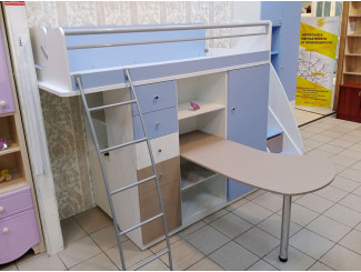 Набор мебели из кровати-чердака, стола, лестницы и 2-х шкафов - Силует - (скидка 45%)