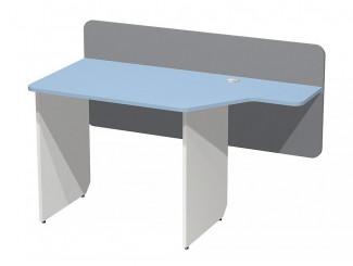 Письменный стол с задней стенкой и с вырезом в столешнице СПРАВА - СФ-267204