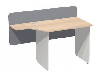 Письменный стол с задней стенкой и с вырезом в столешнице СЛЕВА - СФ-267205