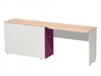 Компьютерный стол с тумбой, для 2-х ярусного блока, ПРАВЫЙ - СФ-267514