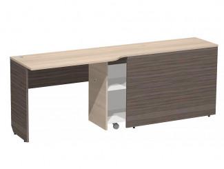 Компьютерный стол с тумбой, для 2-х ярусного блока, ЛЕВЫЙ - СФ-267515
