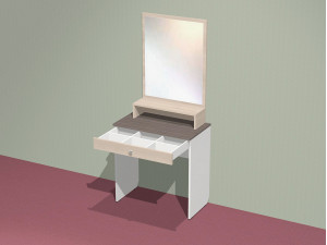 Надставка с зеркалом и полкой для туалетного стола - СФ-266412