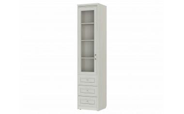 Одно -дверный шкаф cо стеклом с полками и ящиками - 314102-L-s
