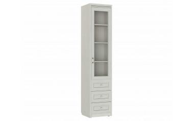 Одно -дверный шкаф cо стеклом с полками и ящиками - 314102-R-s