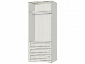 Двух-дверный шкаф со штангой и с ящиками - 314106