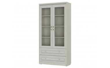 Двух-дверный шкаф-витрина с полками, с 2-мя ящиками - 314114