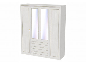 Четырех-дверный шкаф со штангами, полками и ящиками - 314124