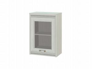 Полка настенная с дверкой со стеклом, универсальная - 316002s