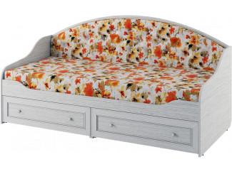 Кровать-тахта со сп. м. 90*200, без матраса, с 2-мя ящиками и с мягкой спинкой - 318803
