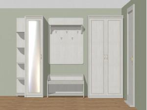 Двух-дверный шкаф со штангой и полками - 314118