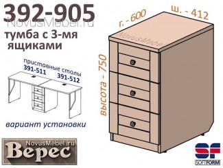 Тумба с 3-мя ящиками - 392-905