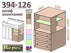 Шкаф-окончание, широкий ПРАВЫЙ - 394-126 (выс.1400мм)